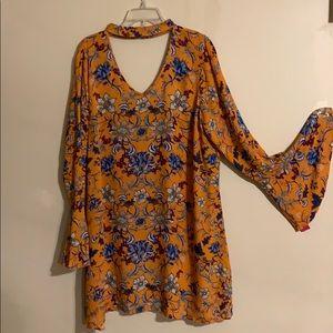 New floral choker dress